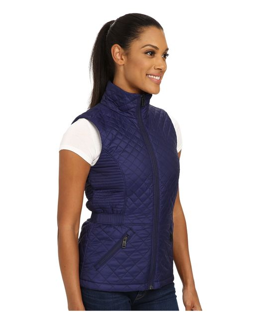 061970636040 The North Face Blue Insulated Luna Vest Lyst .