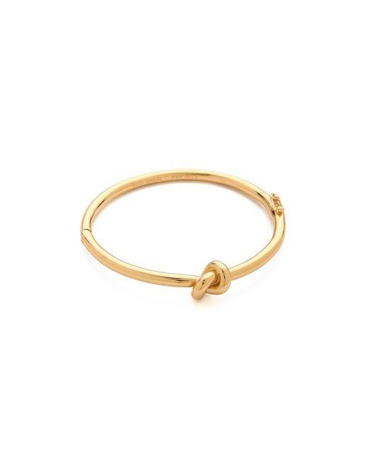 kate spade new york | Metallic Sailor's Knot Bangle Bracelet | Lyst