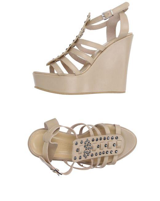 Twin Set | Natural Sandals | Lyst