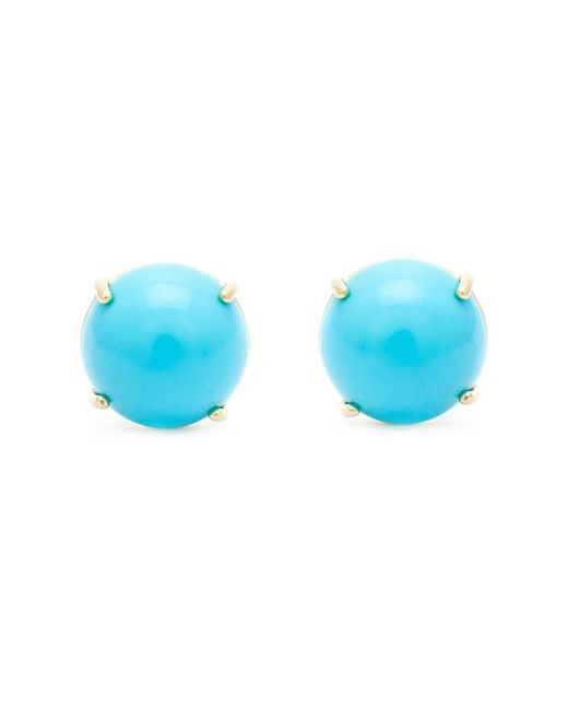 Irene Neuwirth | Metallic Turquoise Stud Earrings | Lyst
