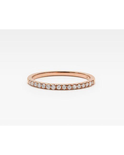 Vrai & Oro | Pink Petite White Diamond Band | Lyst