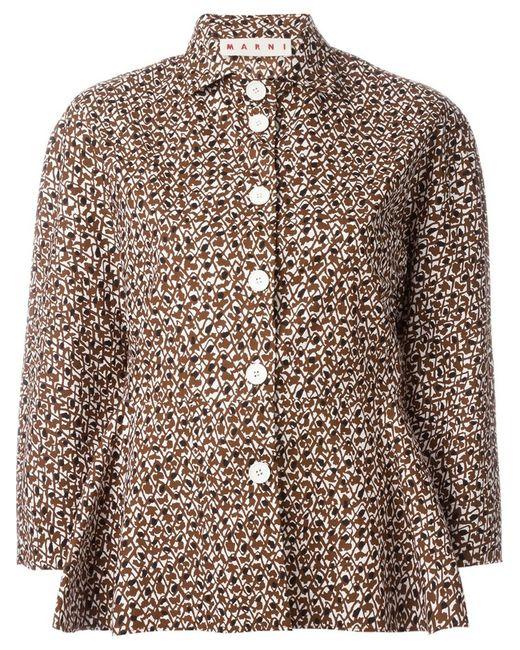 marni-brown-printed-flared-hem-shirt-pro