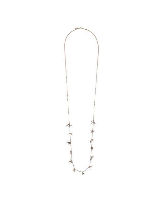 Orelia | Blue Stick Chain Bead Long Necklace | Lyst