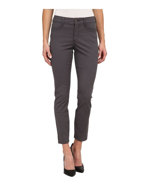 NYDJ | Gray Adalaine Skinny Ankle Peached Sateen | Lyst