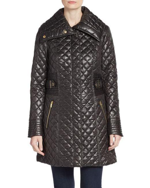 Via Spiga | Black Quilted A-line Jacket | Lyst