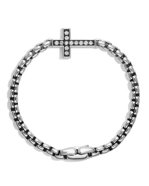 David Yurman | Metallic Pave Cross Bracelet With Diamonds for Men | Lyst