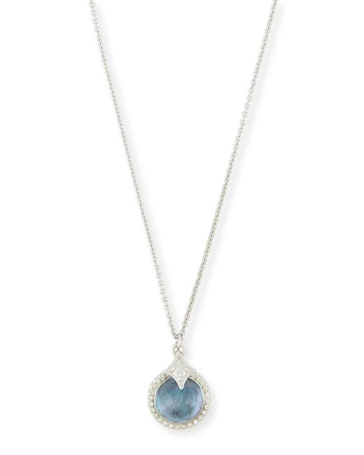 Armenta New World Blue Sapphire Triplet Pendant Necklace in Silver