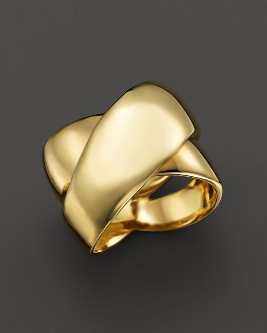 Roberto Coin | Metallic 18k Yellow Gold Crossover Ring | Lyst
