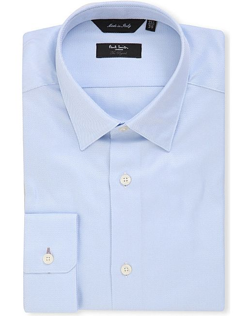 Paul Smith | Blue Byard Slim-fit Cotton-twill Shirt for Men | Lyst