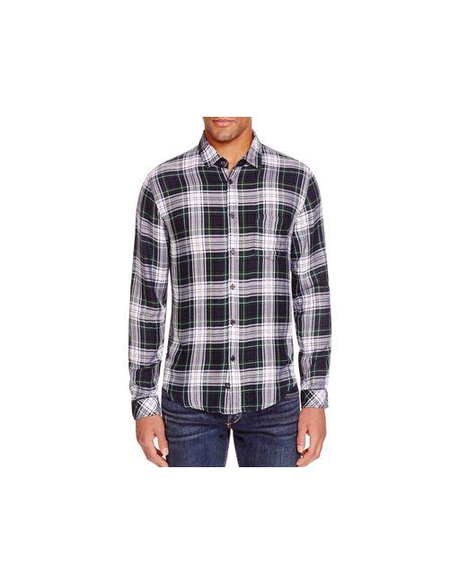 Rails lennox plaid regular fit button down shirt in for Green plaid button down shirt