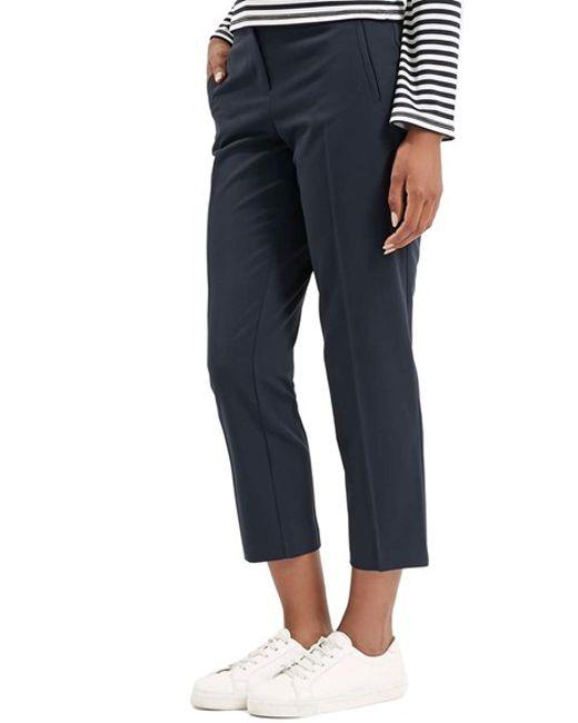 TOPSHOP | Blue Crop Cigarette Trousers | Lyst