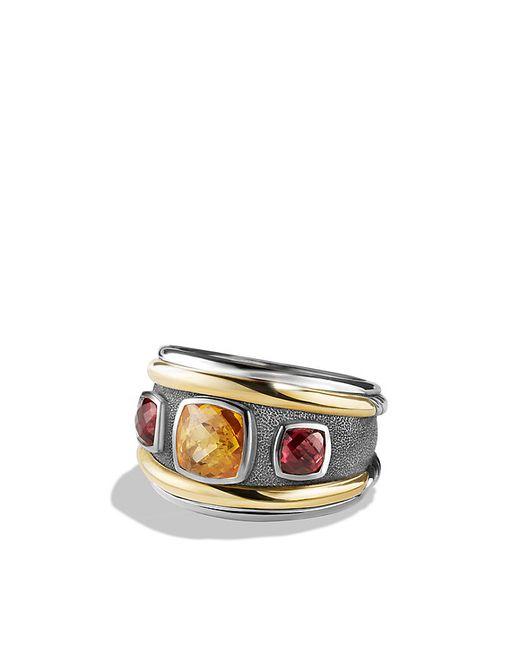 David Yurman | Metallic Renaissance Ring With Citrine, Rhodalite Garnet And 14k Gold | Lyst