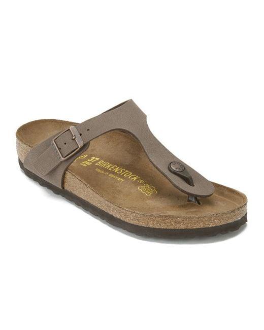birkenstock women 39 s gizeh toepost leather sandals in brown. Black Bedroom Furniture Sets. Home Design Ideas
