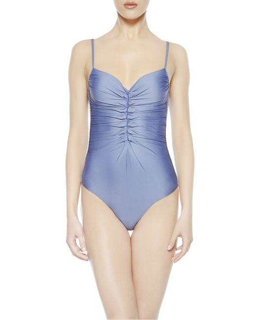 La Perla   Gray Padded Swimsuit   Lyst