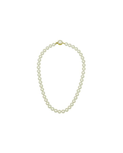Majorica | White Simulated Pearl Necklace, 16"