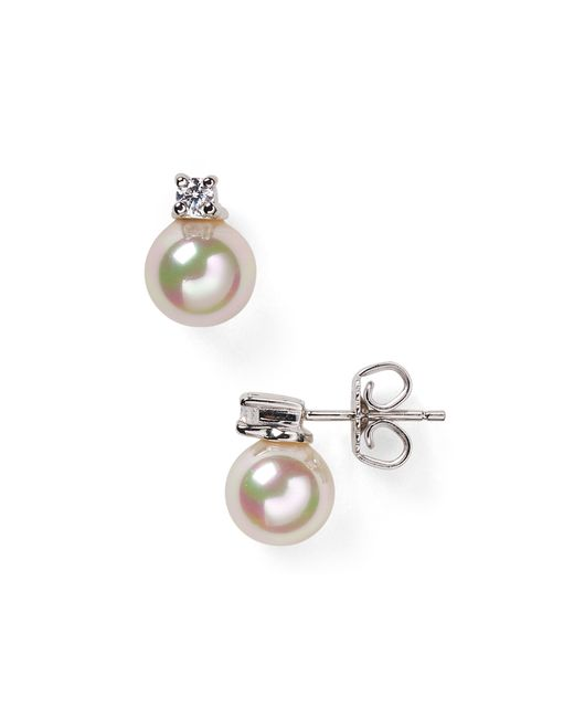 Majorica | White Organic Simulated Pearl Earrings, 8mm | Lyst