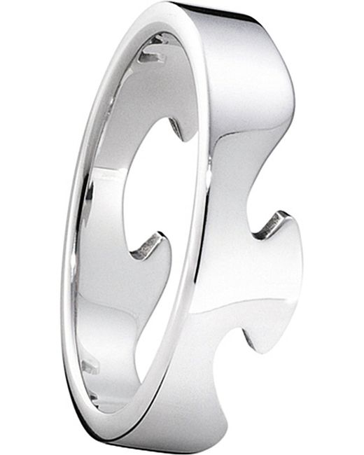 Georg Jensen | Metallic Fusion End 18ct White-gold Ring | Lyst