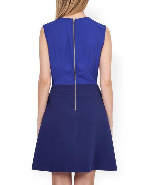 closet pleat a line skirt dress in blue lyst