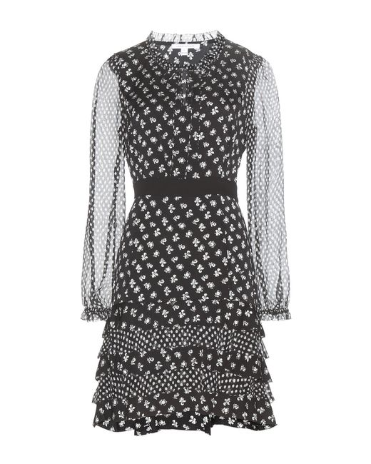 Diane von Furstenberg | Black Fionna Printed Silk Dress | Lyst