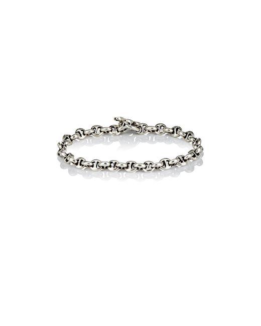 Hoorsenbuhs | Metallic Diamond & Silver 'h' Chain-link Bracelet for Men | Lyst