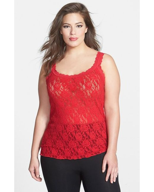 Hanky Panky | Red 'signature' Lace Camisole | Lyst