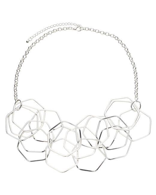 John Lewis | Metallic Hexagonal Necklace | Lyst