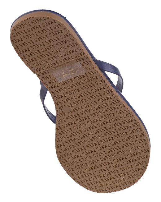 Tkees Liner Flip Flops Twilight Blue Leather In Blue  Lyst-5433