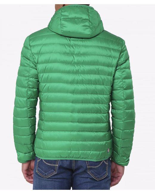 Colmar Hooded Light Down Jacket In Green For Men (Mint)