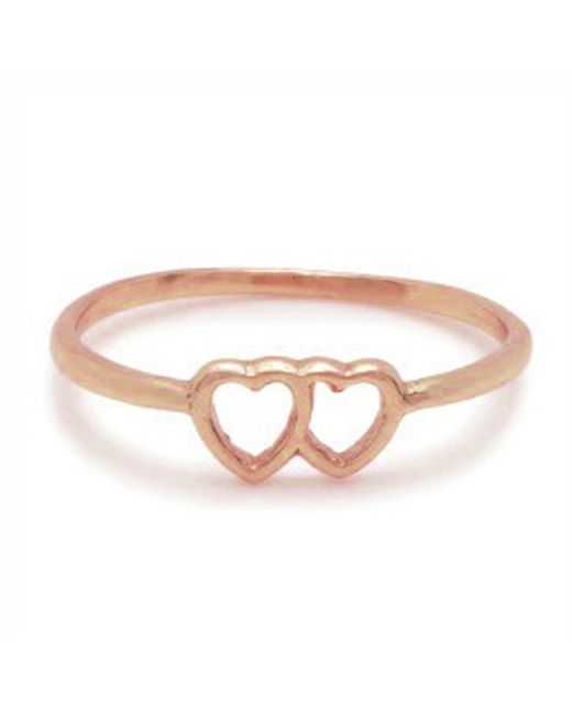 Bing Bang | Pink Tiny Loved Up Ring | Lyst