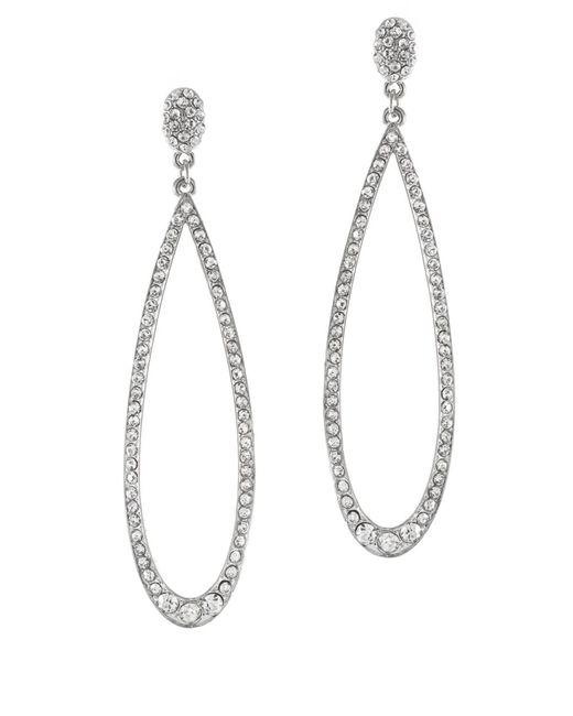 Kenneth Jay Lane | Metallic Rhodium-plated Crystal Earrings | Lyst