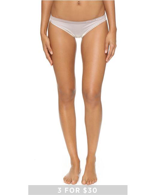 Calvin Klein | Natural Seamless Illusions Bikini Panties | Lyst