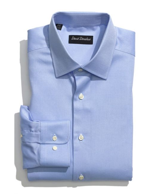 David Donahue | Blue Regular Fit Oxford Dress Shirt for Men | Lyst