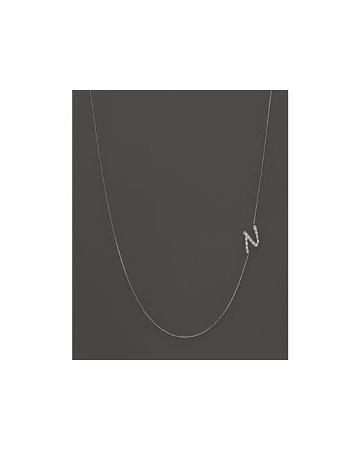 KC Designs | Diamond Side Initial N Necklace In 14k White Gold, .07 Ct. T.w. | Lyst