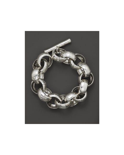 John Hardy | Metallic Bamboo Silver Large Link Bracelet | Lyst