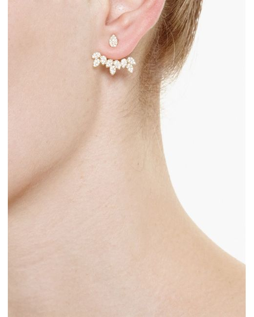 Yvonne Léon | Metallic 18kt Gold And Diamond Pear Stud Earring | Lyst