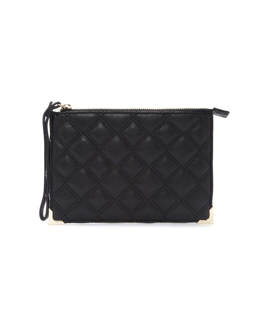 Forever 21 | Black Quilted Faux Leather Clutch | Lyst