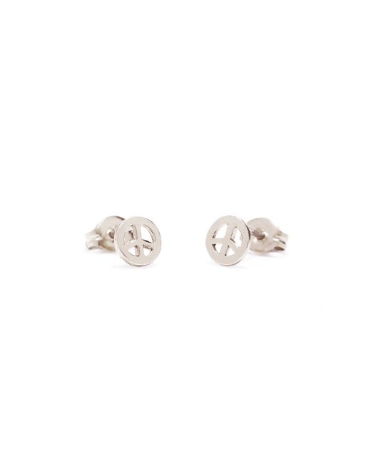 Bing Bang | Metallic Little Peace Studs | Lyst