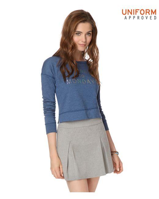 Aéropostale | Gray Pleated Uniform Skirt | Lyst