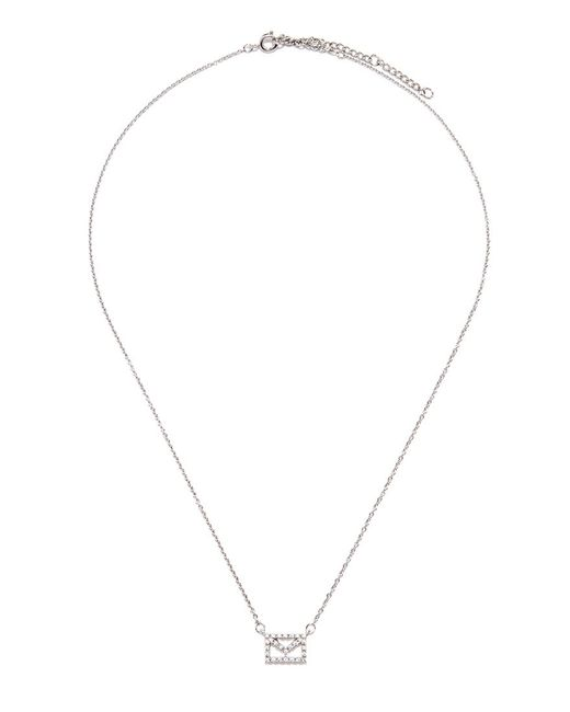 Forever 21 | Metallic Cubic Zirconia Envelope Charm Necklace | Lyst