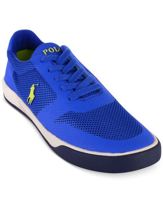 polo ralph s hellidon sport mesh sneakers in