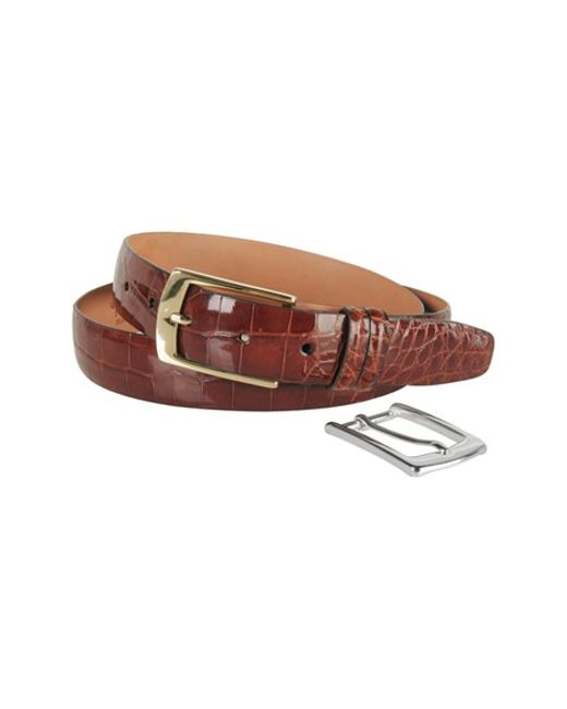 Trafalgar | Brown Alligator Belt for Men | Lyst