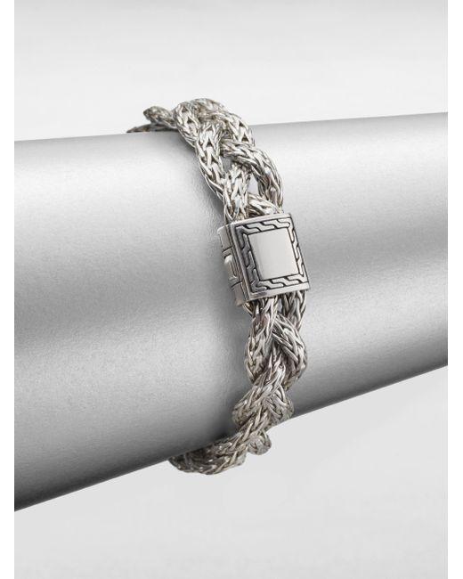 John Hardy | Metallic Classic Chain Sterling Silver Small Braided Bracelet | Lyst