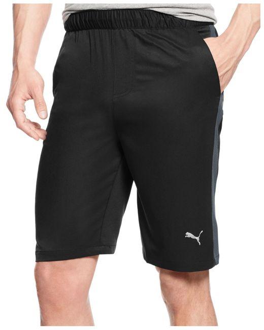 "PUMA | Black Men's 10"" Contrast-side Active Shorts for Men | Lyst"