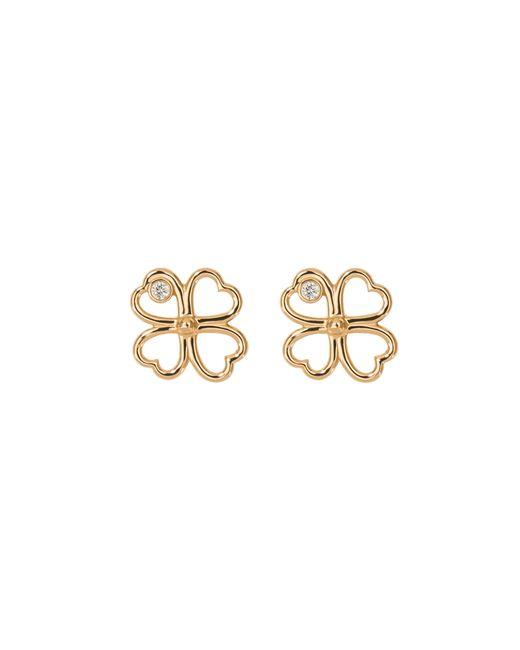 Aurelie Bidermann   Metallic Fine Jewellery - 18k Clover Single Earring With Diamond   Lyst