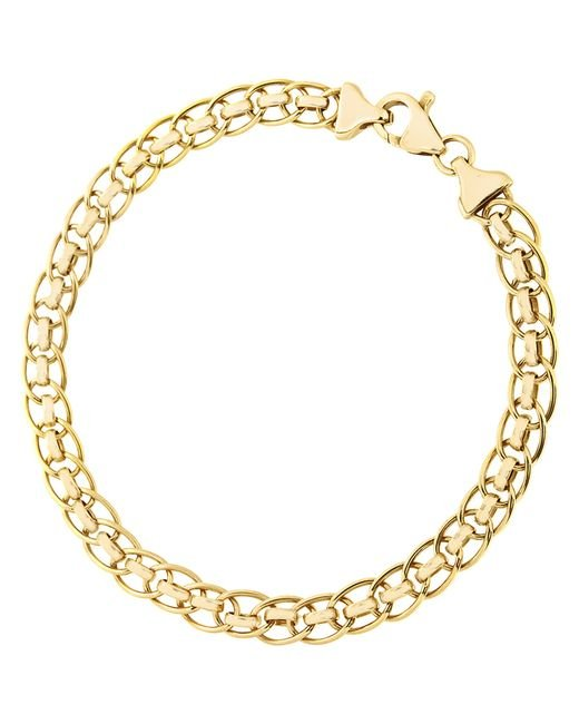 Ib&b | Metallic 9ct Yellow Gold Rollerball Bracelet | Lyst