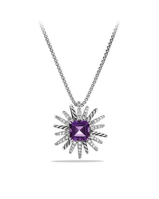 David Yurman | Purple Starburst Pendant Necklace With Amethyst And Diamonds, 23mm | Lyst