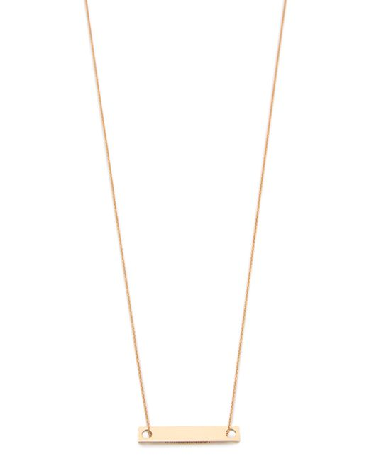 Ginette NY | Pink Mini Baguette Necklace | Lyst