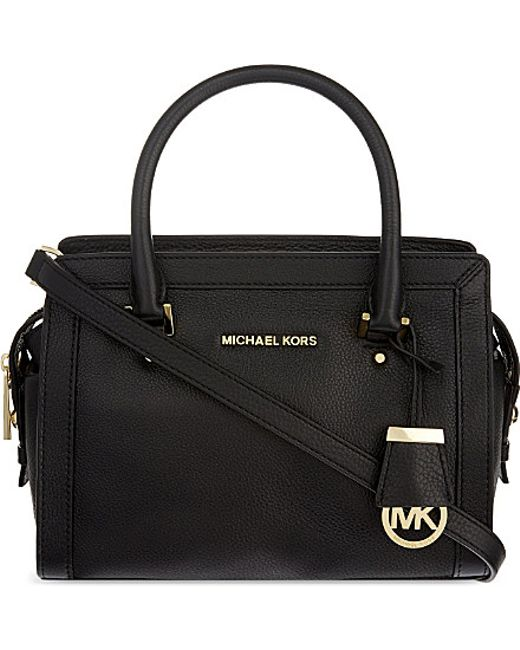 MICHAEL Michael Kors | Black Collins Small Soft Leather Tote | Lyst