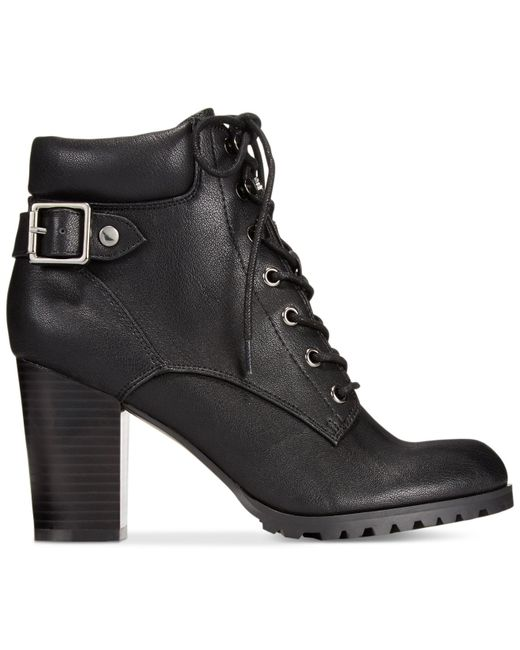 Style & Co. | Black Style&co. Caitlin Lace-up Booties | Lyst