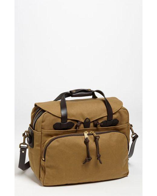 Filson | Brown Padded Laptop Bag for Men | Lyst